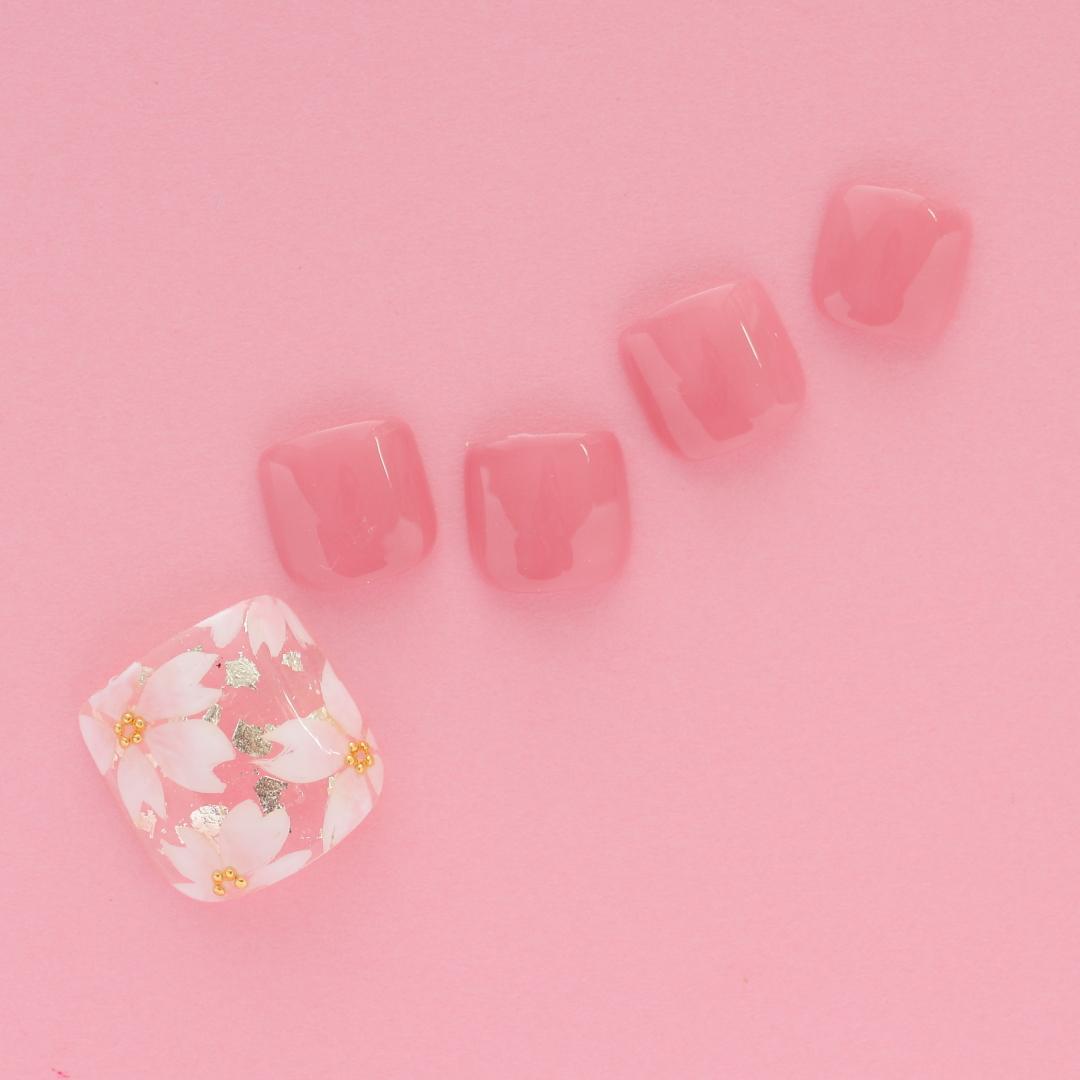 桜フットネイル|新百合ヶ丘ネイルサロン