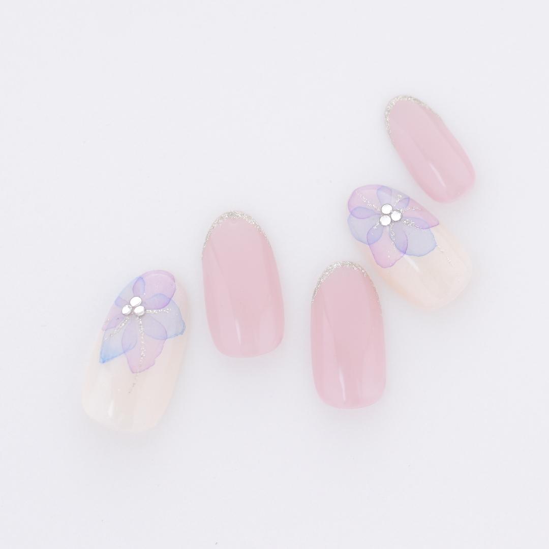 新百合ヶ丘ネイルサロン~紫陽花ネイル