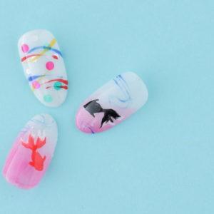 夏ネイルデザイン 金魚ネイル~新百合ヶ丘ネイルサロン