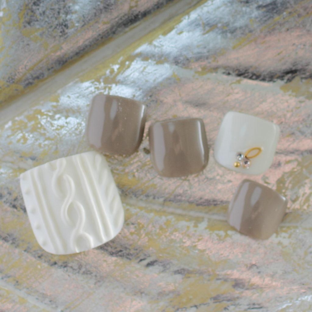 新百合ヶ丘ネイルサロン「ネイルマーナ」~冬のフットネイルデザイン2020