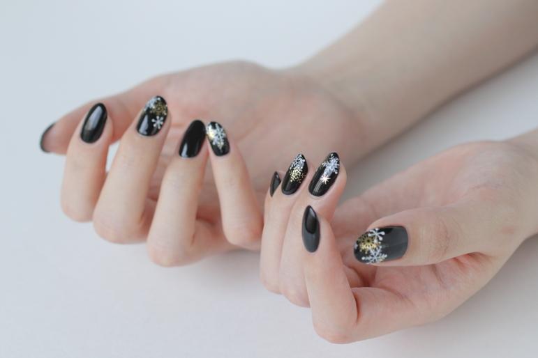 新百合ヶ丘ネイルサロン~雪の結晶ネイルデザイン2020
