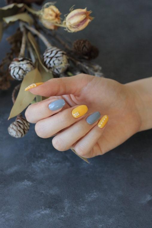 新百合ヶ丘ネイルサロン「ネイルマーナ」春ネイルデザイン2021トレンドカラーを使って