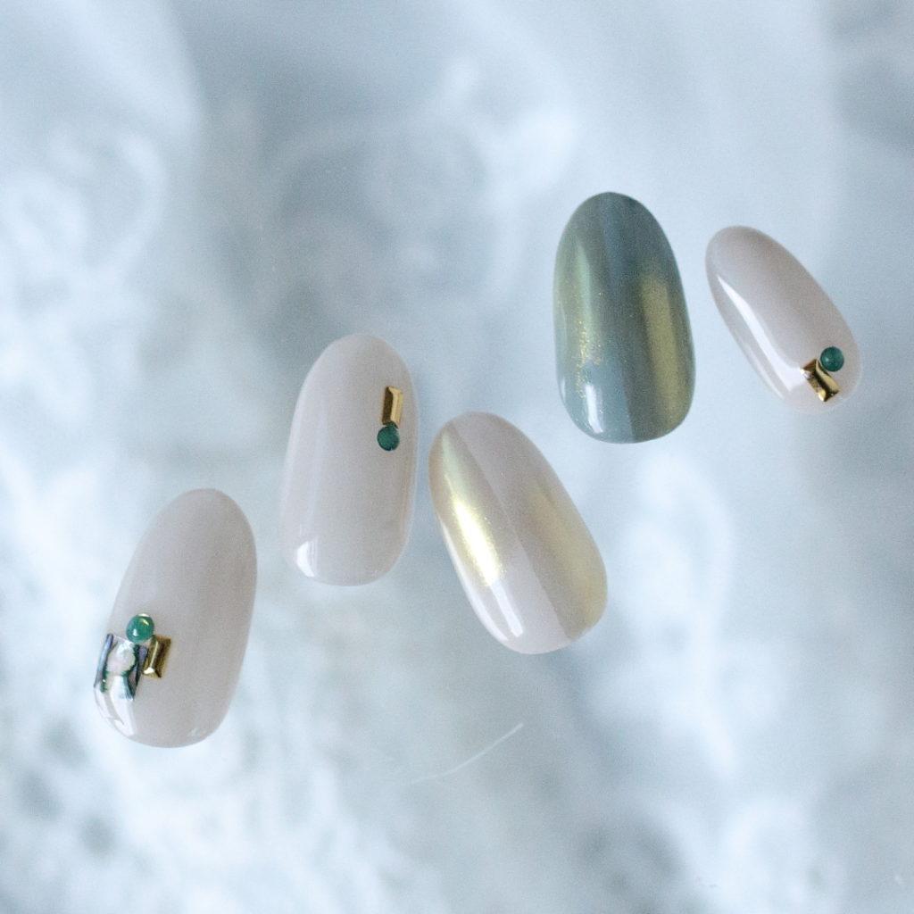新百合ヶ丘ネイルサロン「ネイルマーナ」~春ネイルデザイン「ミラーネイル」2021