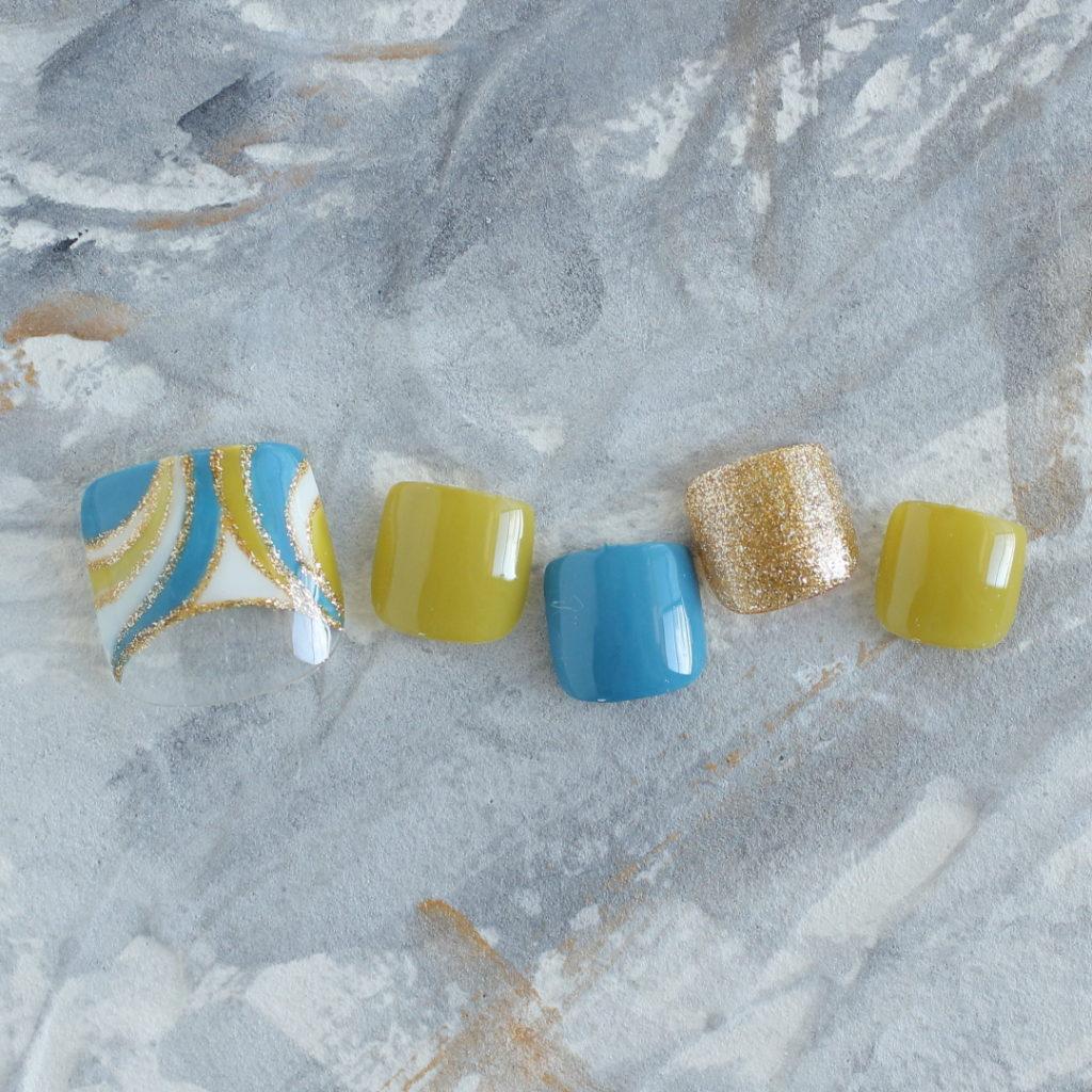 新百合ヶ丘ネイルサロン パラジェル&カルジェル「ネイルマーナ」プッチ柄ネイル2021